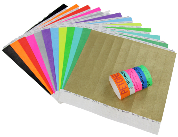 Secure Paper Wristbands
